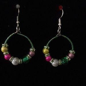 Handcrafted Pierced Beaded Earrings